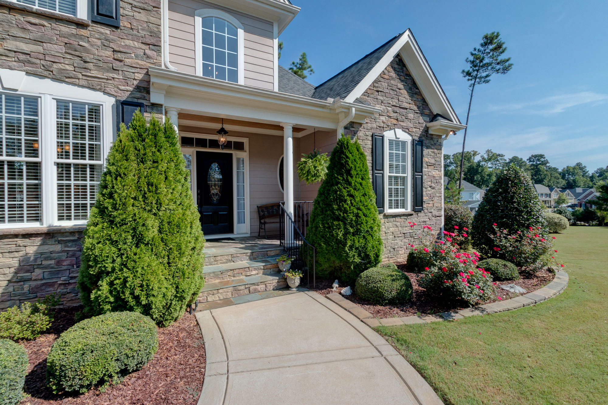 Real Estate Photography: Elegant Home Exterior in Garner, NC