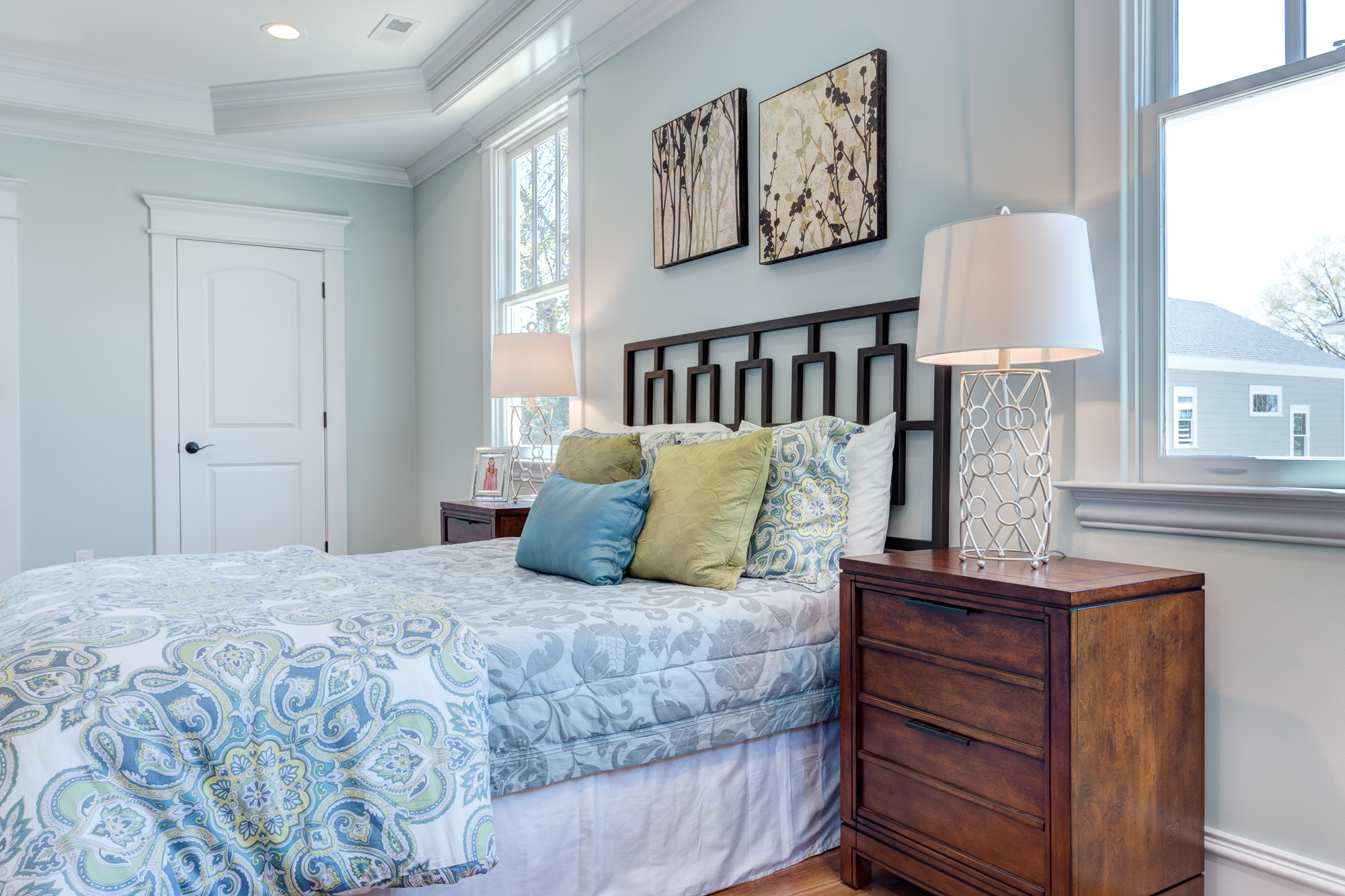 Real Estate Photography: Stunning new construction master bedroom in Durham, NC