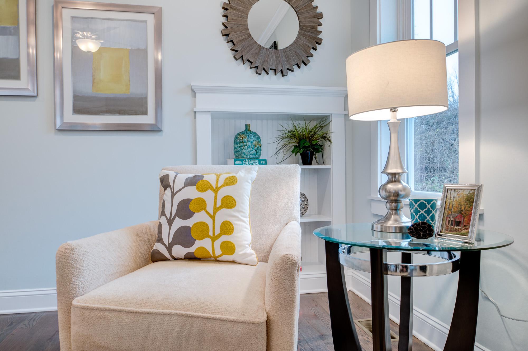 Modern Living Room Details Real Estate Photography