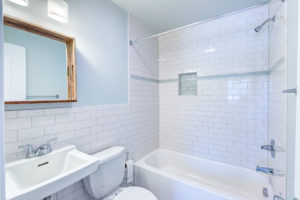 Tiny Duplex Apartment: Bathroom Update Before & After